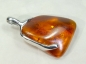 Preview: Amber Pendant, 925 Silver, 37mm