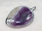 Preview: Fluorite Pendant, 925 Silver, 48mm