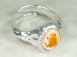 Preview: Cantera Fire Opal Ring, No.8, 925 Silver