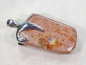 Preview: Mexican Cantera fire opal, 925 silver, 47mm !!!, No.23