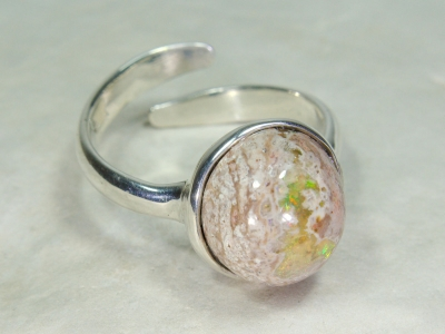 Cantera Fire Opal Ring, 925 Silver, No.4